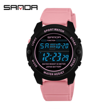 SANDA Sports Women Watches Fashion Casual Waterproof LED Digital Watch Female Wristwatches For Women Clock Relogio Feminino 6003