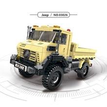 купить Jeep SUV Off-Road Car Series Technic Super big foot Truck Models Building Blocks Sets Bricks Kids Educational Toys for Children онлайн