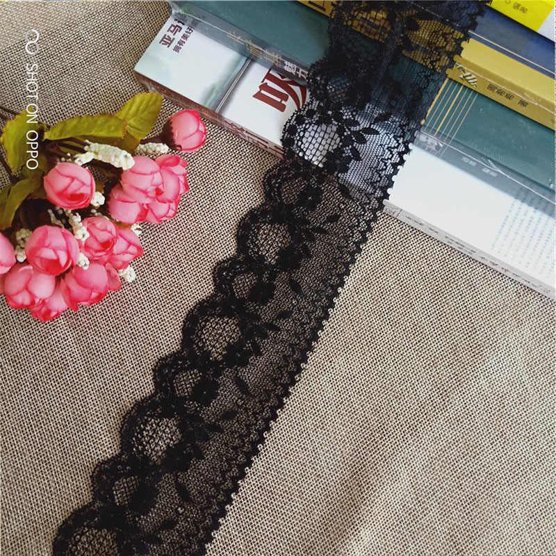 * 5cm S1560 nieuwste custom bloemen patroon elastische zachte mesh eye spandex George royal blauw zwart kant stof voor dames ondergoed m