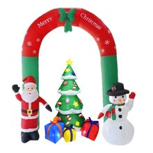 1Set New Year Merry Christmas Decor for Home Outdoor Winter Party Gingerbread Snowman Santa Claus Christmas Tree Inflatable Arch