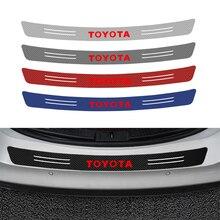 Автомобильный багажник задний бампер из углеродного волокна Защитная Наклейка для Toyota c-hr Prado rav4 Yaris hilux prius avensis аксессуары