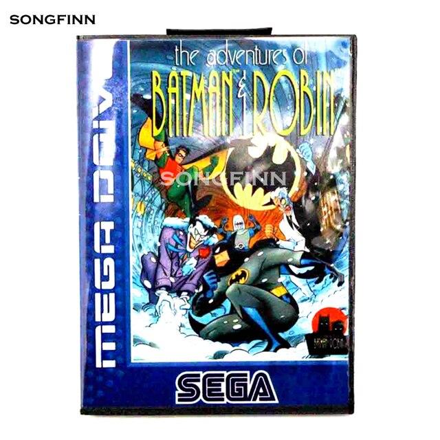16 Bit MD Thẻ Nhớ Có Hộp Dành Cho Sega Mega Drive Cho Sáng Thế Ký Megadrive Cuộc Phiêu Lưu Của Batman & Robin EU