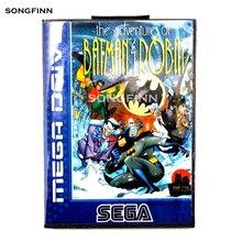 16 บิตพร้อมกล่องสำหรับ Sega MEGA Drive สำหรับ Genesis Megadrive การผจญภัยของ Batman & Robin EU