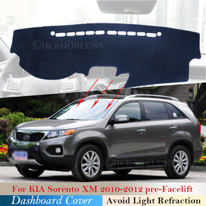 Dashboard Cover Protective Pad for KIA Sorento 2010 2011 2012 XM Pre-Facelift Car Accessories Dash Board Sunshade Carpet Anti-UV