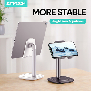 Joyroom Phone Holder Stand Mobile Smartphone Desk Stand Metal Adjustable Universal Table Cell Phone Support For iPhone Xiaomi(China)