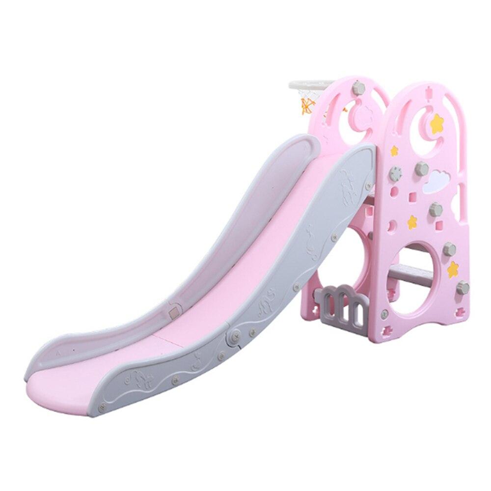 2 ב 1 ילדי שקופיות עם כדורסל חישוק ירח כוכב תינוק שקופיות בית גן משחקים משחק חיצוני מקורה צעצועי ילדים מתנה