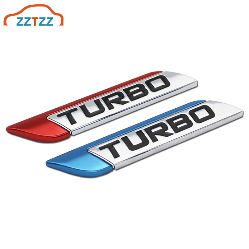 ZZTZZ 3D Metal TURBO Turbocharged Car sticker Logo Emblem Badge Decals Car Styling DIY Decoration Accessories for Frod Bmw Ford