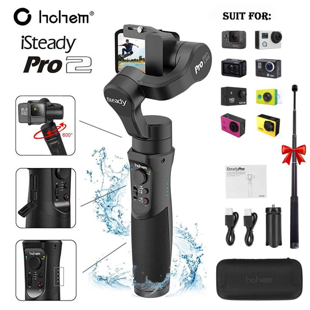 Hohem ISteady Pro 2 3-Axis Handheld Gimbal Waterproof Action Camera Stabilizer For DJI Osmo Gopro Hero/7/6/5/4/3 Sony RXO SJCAM