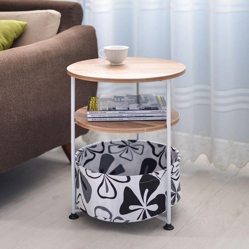 Simall Tea Table Fashion Modern Living Room Corner Sofa Side Table Movable Telephone Coffee Table Round Bedside Desk Mx10181605