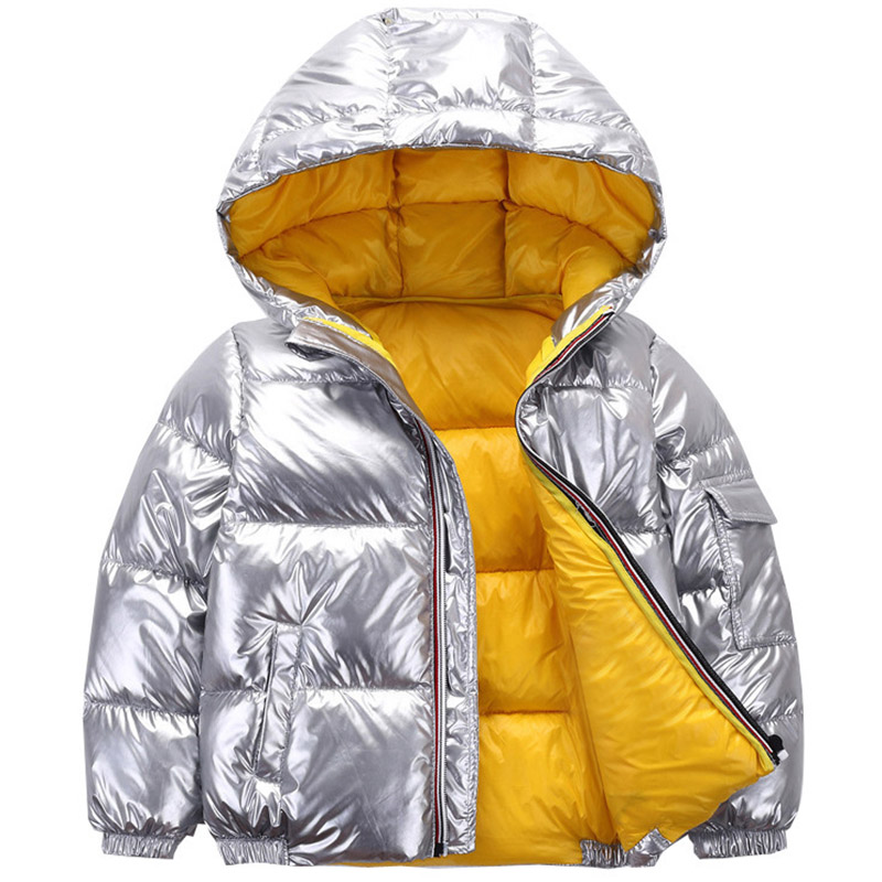 3-11Y Boys Jackets & Coats 2019 Cotton Cashmere Warm Hooded Girl Thick Fur Coats Outwear Children's Boys Girls Winter Clothes