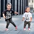 Футболка с надписью «Big Brother Little Brother»  «Sibling»  футболки с короткими рукавами  одежда для маленьких мальчиков  модная футболка с надписью «...