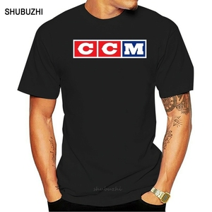 Ccm Logo Hockey Man T-Shirt men cotton tshirt summer brand teeshirt euro size free shipping