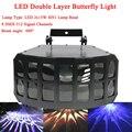 LED 2x15W RGBW 4IN1 Doppel Schicht Downlight Projektion Schmetterling Wirkung Licht KTV DJ Disco Party Lichter LED doppel Schmetterling