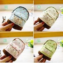 Purse Pouch Pencil-Case Flowers Cosmetic Wash-Gifts Cute Children New Student 4-Colors