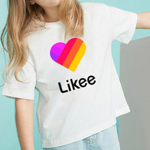 Likee 2020 summer popular kids t shirts likee app child shirt