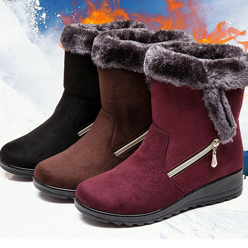 Women Boots Wedges Shoes Ankle Snow