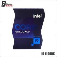 Intel Core i9-11900K i9 11900K 3.5 GHz Eight-Core Sixteen-Thread CPU Processor 16M 125W LGA 1200 Need H410 B560 Z590 Motherboard 1