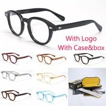 ジョニー · デップ光眼鏡フレームの男性のボックス & ケースコンピュータlemtoshスタイルメガネ眼鏡フレーム男性レンズ