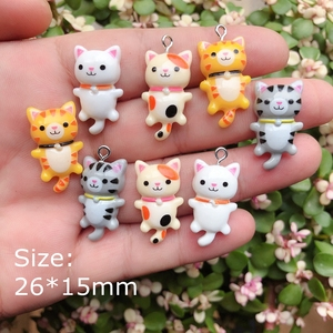 Kawaii Cat charms pendants for jewelry making bracelets necklace earrings making resin flat back cabochon