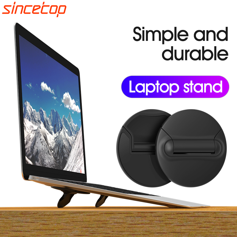 SinceTop Laptop Stand For MacBook Pro Universal Desktop Laptop Holder Mini Portable Cooling Pad Notebook Stand For Macbook Air