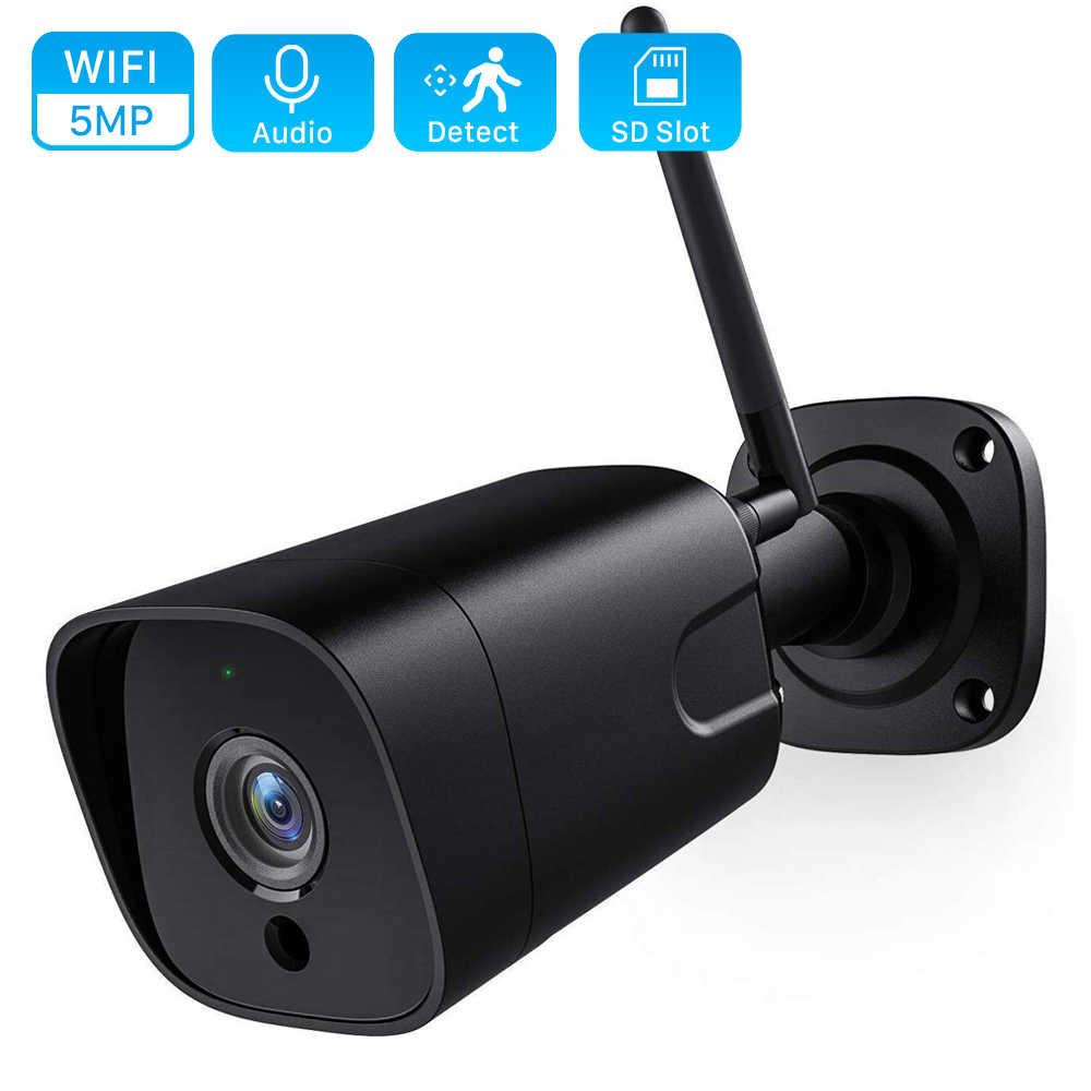 5MP Wireless Ip Camera Outdoor 1080P Hd 2MP Surveillance Security Camera Two Way Audio Ir Nachtzicht Bullet Wifi camera Onvif