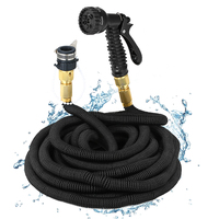 75FT 225FT Flexible Garden Hose Expandable Water Hose Pipe Watering Spray Gun Set Car Watering Hose with Spray Gun Watering Kit