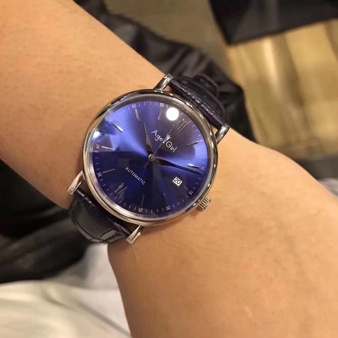 Luxury Brand New Automatic Mechanical Men Stainless Steel Sapphire Silver Yellow Gold Rome Black Leather Blue Dial Watch 40mm