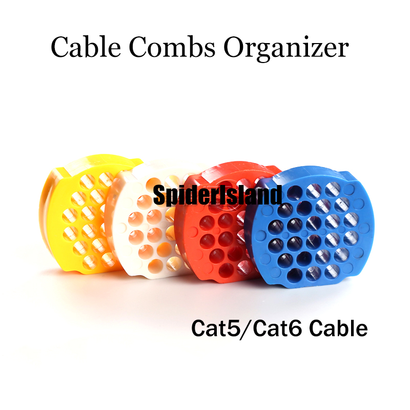 New 24 / 48 HOLE Category 5 / 6 Cable Combs Network Cable Arrangement Tidy Tool Organizer Tool Finishing Wire For Computer Room