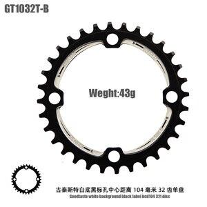 Image 5 - Goodtaste Crank Bicycle BCD 104 MTB Bike parts Aluminum alloy 170mm 32 34 36 38T CNC chain ring track crankset bottom bracket