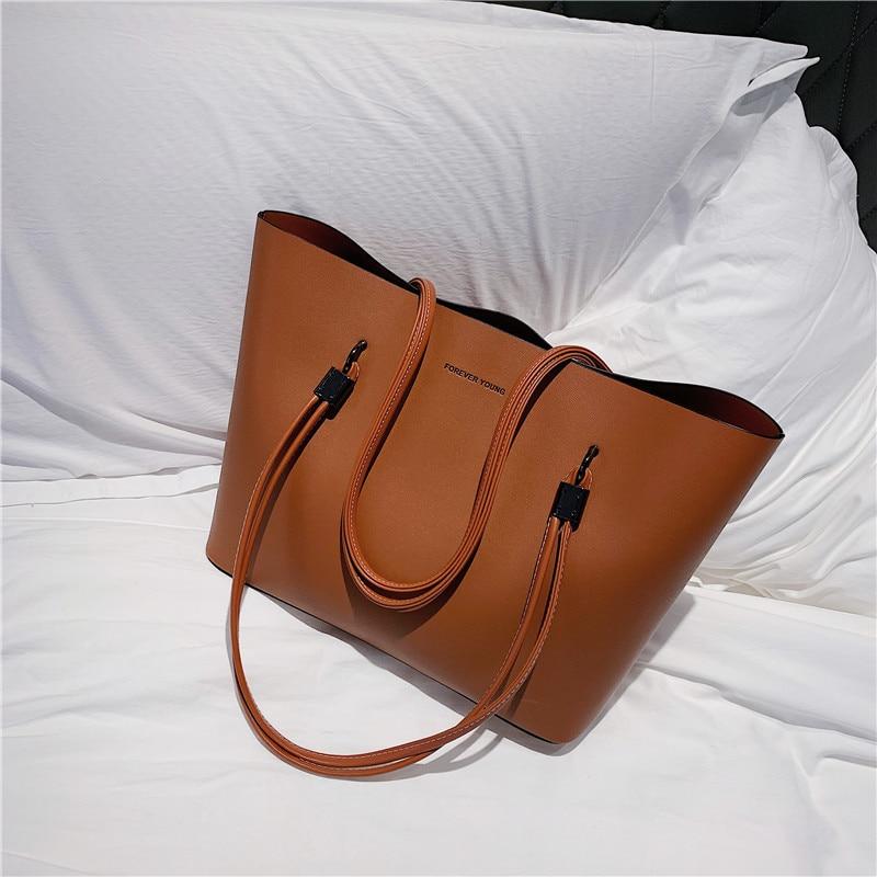 Print Tote Bag Green Leaves Casual Woman Bag Fashion Design Bag Pu Leather Top Handle Satchel Women Tote Bag