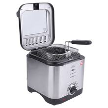 Compact 900W 1.5 Litre Chip Pan Basket Non Stick Oil Fry 900W Stainless Steel Deep Fat Fryer Kitchen Tools Drop shipping(China)