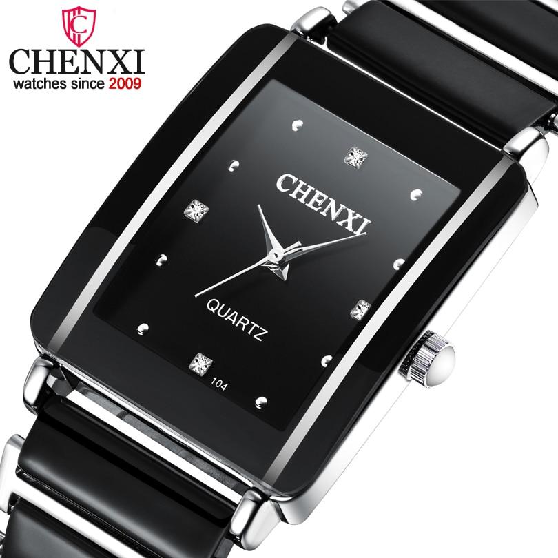 CHENXI Luxury Brand Lover's Watches Men Or Women Quartz Watch Man Anti-ceramic Strap Waterproof Lady WristWatch Male Clock Gift
