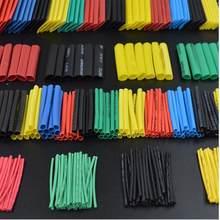 Frete grátis 328/280/164/127 peças de poliolefina combinada calor shrinkable tubo capa 8 tamanhos, multicolorido/preto