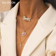 Salircon роскошные стразы кулон крест с сердцем колье в винтажном