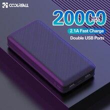 Coolreall, 20000 мА/ч, зарядное устройство, USB, быстрое, 20000 мА/ч, для xiaomimi, iPhone11, мобильный телефон, портативное Внешнее зарядное устройство