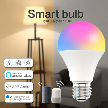 Siri Voice Control 15W RGB Smart Light Bulb Dimmable E27 B22 WiFi LED Magic Lamp AC 110V 220V Work with Alexa Google Assistant image