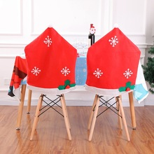 Christmas decorations non-woven snowflake chair cover 50*65cm coverchristmas for home