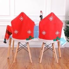 Christmas decorations non-woven snowflake chair cover 50*65cm snowflake chair coverchristmas decorations for home snowflake