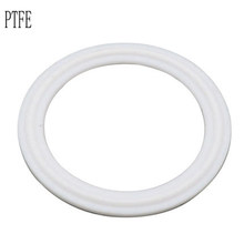 PTFE Grooved Gasket Fits 19.25.32.38/133mm-76mm OD pipe & 50.5-145mm OD Sanitary Tri Clamp Type Ferrule Flange in Gaskets
