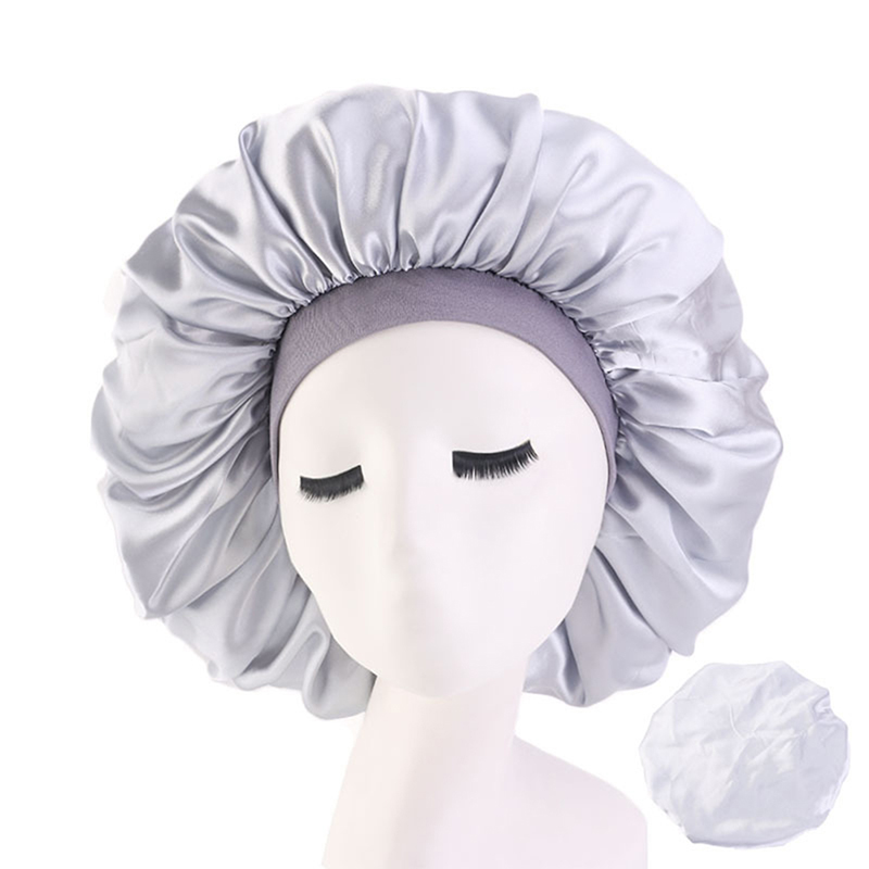 1Pcs Good Quality Extra Large Sleep Cap Waterproof Shower Cap Women Hair Treatment Protect Hair From Frizzing