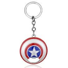 ZRM Мстители Капитан Америка открывалка для бутылок брелок Марвел Капитан брелок для ключей в форме щита для женщин мужчин автомобильный брелок аксессуары