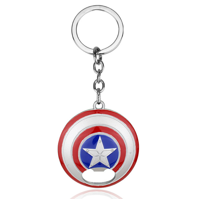 Captain America Shield Bottle Opener Keychain 1
