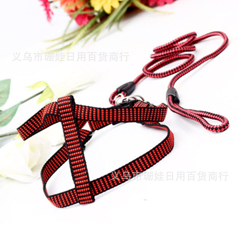 Dog Chest And Back Hand Holding Rope Grid Hand Holding Rope Zebra-stripe Chest And Back Durable Pet Supplies