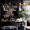 Nordic Clear Glass Pendant Lights Globe Chrome Glass Ball Pendant Lamp Dining Room Kitchen Hanging Lamp Home decor light fixture review