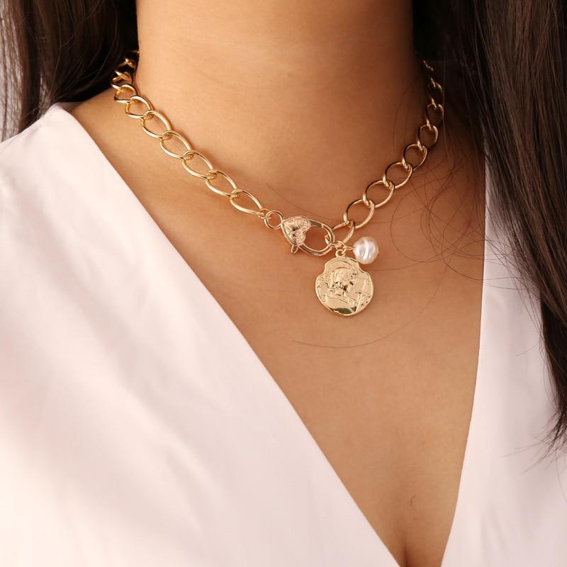 Fashion Femmes Rose or clavicule collier Tour de Cou Coeur Pendentif Chaîne Bijoux Hot
