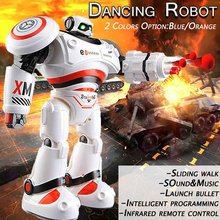 RC Robot AD Files Programmable Combat Intelligent RC Robot Remote Control Toy for Boys Children Birthday Gift(China)