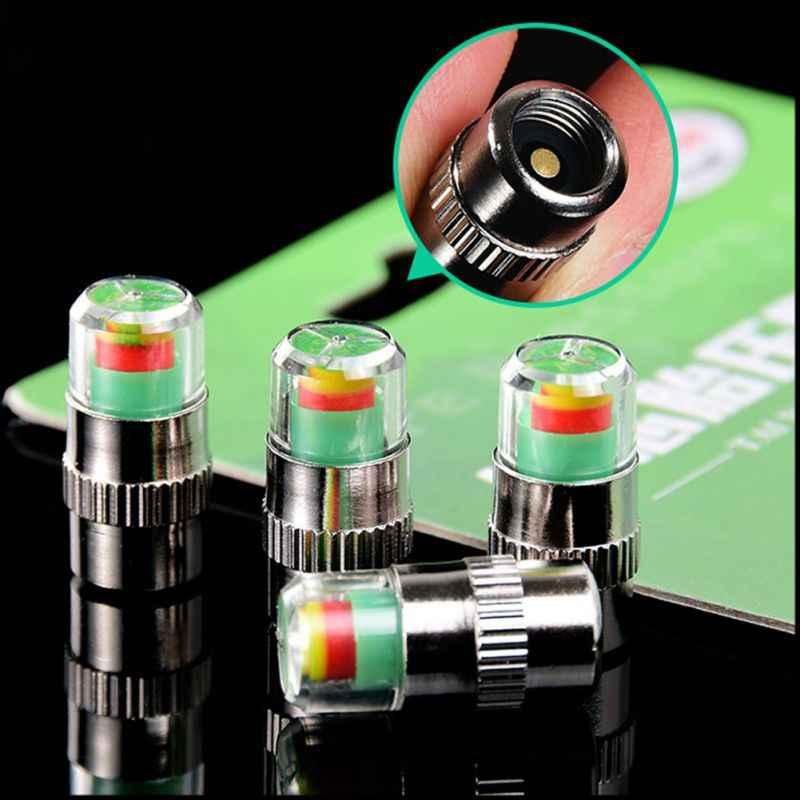 4pcs Mini 2.4Bar 36PSI Tyre Pressure Monitor Valve Stem  Tire Visual warning Set