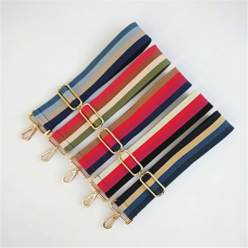 Colored Belt Bag Strap Accessories For Women Rainbow Adjustable Shoulder Hanger Handbag Straps Decorative Handle Strap Gift W237