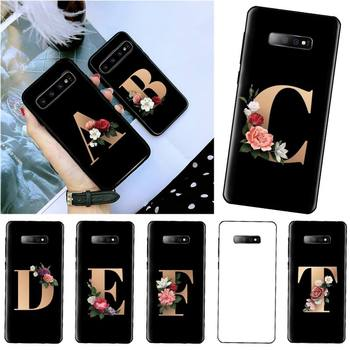 Name letter flower Phone Case For Samsung S6 S7 edge S8 S9 S10 e plus A10 A50 A70 note8 J7 2017 image
