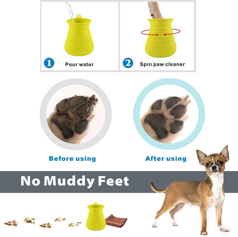 Benepaw Dog Paw Cleaner Shower Brush 2 In 1 Portable Soft Silicone Pet Foot Washer Effectively Cleaning Cup Puppy Cats Massage 11